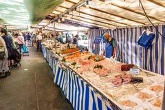 People visit farmers market in Chaillot, Paris Stock Photos