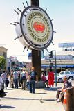 People visit Fishermans Wharf, San Fran. SAN FRANCISCO, USA - AUGUST 29, 2007: Unidentified people visit Fishermans Wharf , famous tourist attractions Stock Image