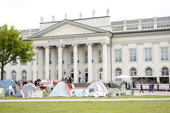 People visit the Fridericianum Royalty Free Stock Photos