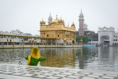 People visit the Golden Temple in Amritsar, India Royalty Free Stock Image