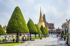People visit the Grand Palace Royalty Free Stock Image