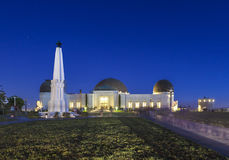 People visit  Griffith Observatory by night Stock Photos