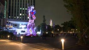 People visit Gundam at DiverCity, Tokyo Royalty Free Stock Images