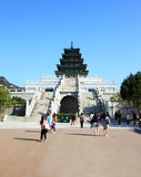 People visit Gyeongbokgung palace Royalty Free Stock Photography
