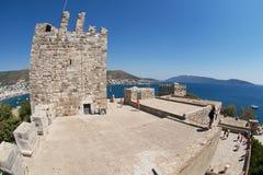 People visit Halicarnassus castle in Bodrum, Turkey. Royalty Free Stock Image