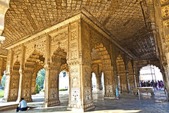People visit Hall of Private Audience or Diwan I Khas Stock Photos