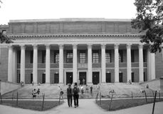 People visit Harvard university. People visit The Harry Elkins Widener Memorial Library at Harvard university, city Boston Mass USA Royalty Free Stock Image