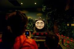 People visit Hiro train in Thomas land Stock Photography