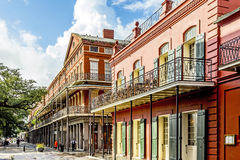 People visit historic building in the French Quarter Stock Image