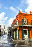 People visit historic building in the French Quarter stock photos