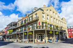 People visit historic building in the French Quarter Stock Images