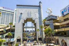 People visit Hollywood and Highland Center Stock Photo