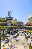People visit Hollywood and Highland Center Stock Images