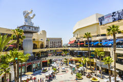 People visit Hollywood and Highland Center Royalty Free Stock Photos