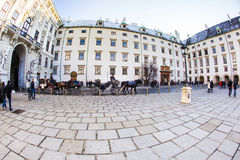People visit the inner Hofburg Royalty Free Stock Photography