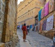 People visit Jaisalmer Fort stock photos