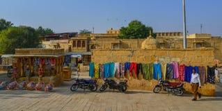 People visit Jaisalmer Fort royalty free stock photos