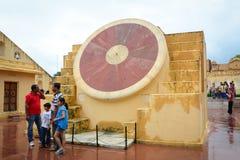 People visit Jantar Mantar in Jaipur, India Royalty Free Stock Photo