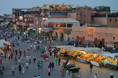 People visit the Jemaa el Fna Square Stock Photo