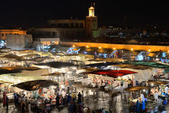 People visit the Jemaa el Fna Square Stock Photography