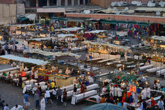 People visit the Jemaa el Fna Square Royalty Free Stock Image