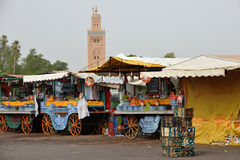 People visit the Jemaa el-Fnaa Square Royalty Free Stock Photo
