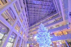 Kitte shopping mall Christmas tree Tokyo Japan royalty free stock images