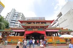 Chinese temple Singapore royalty free stock images