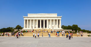 People visit Lincoln Memorial Stock Photography