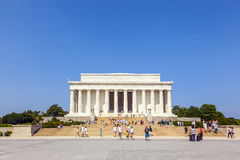 People visit Lincoln Memorial Royalty Free Stock Photography