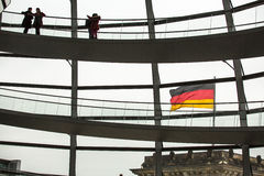People visit the modern dome on the roof of the Reichstag Stock Photos