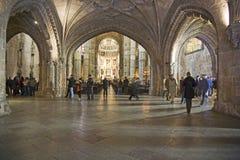 People visit the Monastery of Jeronimos Royalty Free Stock Photos