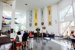 Museum of Naval Aviation, Pensacola, Florida. People visit the National Aviation Museum in Pensacola, Florida Stock Image