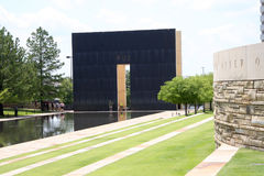 People visit National Memorial in city Oklahoma Stock Photos