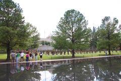 People visit National Memorial in Oklahoma Stock Image
