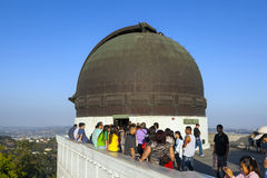 People visit the observatory Stock Image