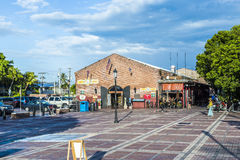 People visit old market building at Mallory square Royalty Free Stock Images