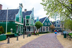 People visit old traditional houses Royalty Free Stock Photos