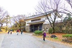 People visit Osaka Castle, Japan Royalty Free Stock Photos