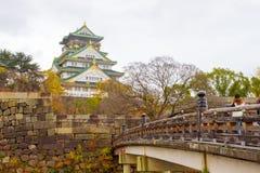 People visit Osaka Castle, Japan Royalty Free Stock Image