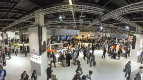 People visit the Photokina in Cologne Royalty Free Stock Image