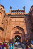 People visit the Red Fort in Delhi Royalty Free Stock Photography
