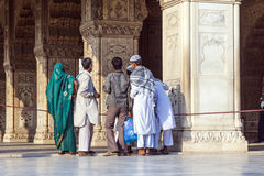 People visit the Red Fort in Delhi Stock Images
