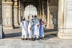 People visit the Red Fort in Delhi Stock Photography