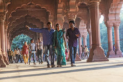 People visit the Red Fort in Delhi Stock Photos
