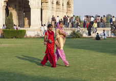 People visit the Red Fort in Delhi Royalty Free Stock Photos