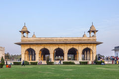 People visit the Red Fort in Delhi royalty free stock images