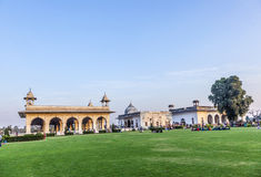 People visit the Red Fort in Delhi stock image