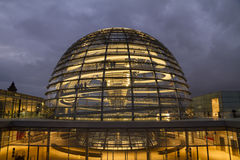 People visit the Reichstag glass dome at the German bundestag parliament  Royalty Free Stock Photos