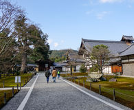 People visit Royal Palace in Kyoto, Japan Stock Images